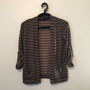 About A Girl Stripe Cardigan Sweater